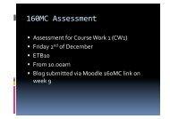 160MC Assessment