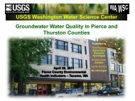 Groundwater water quality in Pierce and Thurston Counties