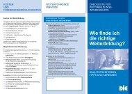 Checkliste - Deutsches Institut für Erwachsenenbildung