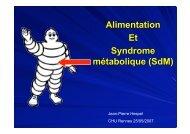 Alimentation Et Syndrome métabolique (SdM)