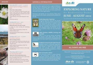 exploring nature june - august 2011 - Dun Laoghaire-Rathdown ...