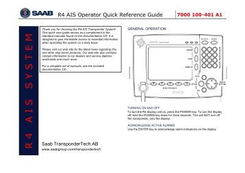 Ais Saab R5 >> Instruction R5