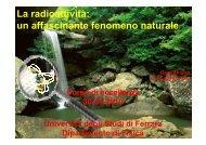 La radioattività - Università degli Studi di Ferrara