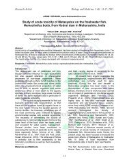 Study of acute toxicity of Metasystox on the fresh water fish ...