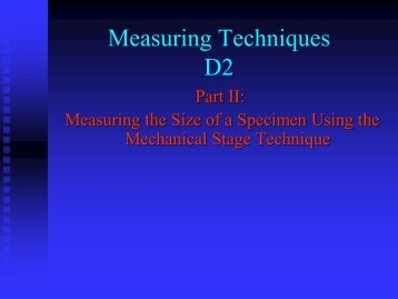 Measuring Techniques D2