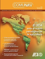 El IICA - Instituto Interamericano de Cooperación para la Agricultura