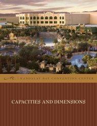 CAPACITIES AND DIMENSIONS - Mandalay Bay