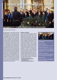 Singen und Musizieren im Advent - Birseck Magazin