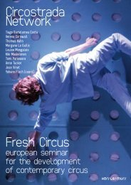 Production and distribution of circus works - Circostrada Network