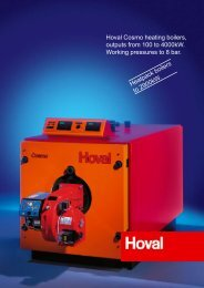 Hoval Cosmo heating boilers, outputs from 100 to - MacFarlane ...