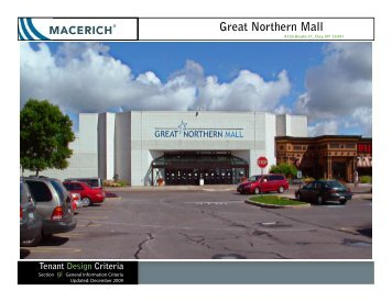 Great Northern Mall General Information Criteria - Macerich