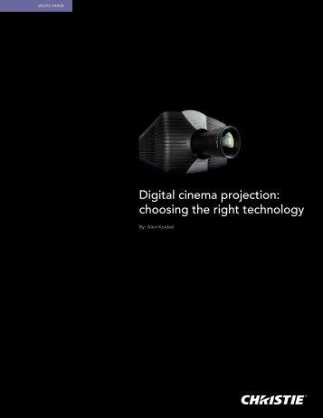Digital cinema projection: choosing the right technology - Radie.us