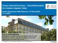Geschäftsmodelle für Anbieter digitaler Güter - Technische ...