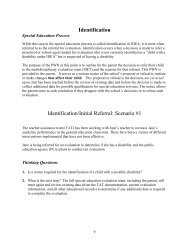 Identification Identification/Initial Referral ... - Special Education