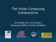 The Urban Computing Collaborative - Center for Urban Education