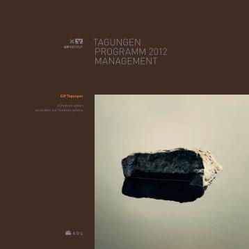 TAGUNGEN PROGRAMM 2012 MANAGEMENT - ABG