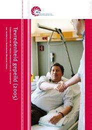 Tevredenheid gepeild 2005 - VU medisch centrum Amsterdam - VUmc