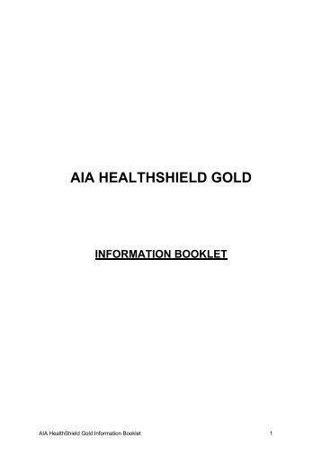 AIA HEALTHSHIELD GOLD - AIA Singapore