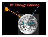 Global energy balance, the natural