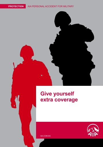 Give yourself extra coverage - AIA Singapore