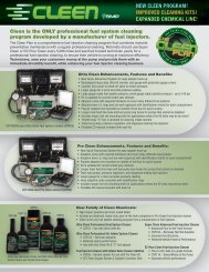 new cleen program! improved cleaning kits! expanded ... - BWD