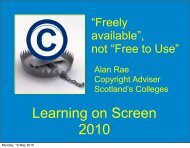 Learning on Screen 2010