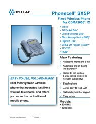 Phonecell® SX5P Fixed Wireless Phone for ... - GetWireless