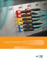 Storage Area Management (SAM) - TE Connectivity