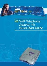 NetComm VMNF100 User Guide (pdf) (1MB) - MyNetFone