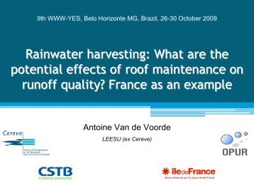 What are the potential effects of roof maintenance on runoff ... - LEESU