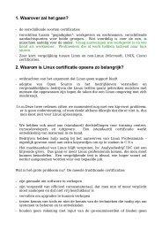 2. Waarom is Linux certificatie opeens zo belangrijk? -