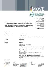 1st German-Arab Education and Vocational Training Forum - Ghorfa