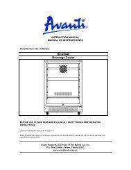 Model BCA5448 - Beverage Cooler with Glass Door - Avanti Products
