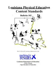 Louisiana Physical Education Content Standards