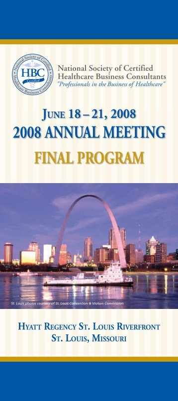 2008 annual meeting final - National Society of Certified Healthcare ...