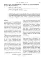 Stability of Sodium Dodecyl Sulfate Micelles in the Presence of a ...