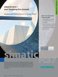SIMATIC PCS 7 & PCS 7 Specialiist - Siemens Industry, Inc.