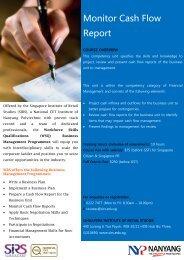 Monitor Cash Flow Report - Singapore Institute of Retail Studies