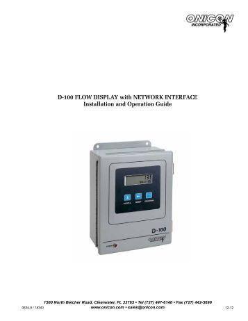 F 3200 Series Inline Electromagnetic Flow Meter Manual