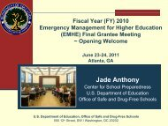 Jade Anthony - Readiness and Emergency Management for ...