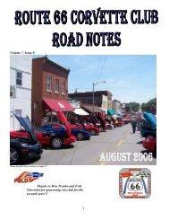 Volume 7, Issue 8 - Route 66 Corvette Club