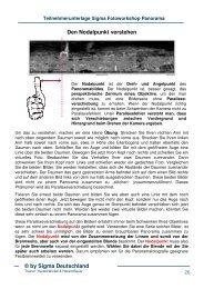 den Nodalpunkt einstellen - Glanzlichteragentur von Harald Wickel