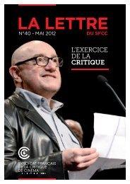 Lettre n°40_2504.indd - Semaine de la Critique