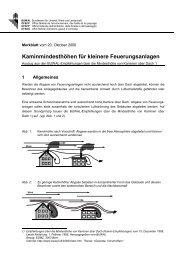 Kaminmindesthöhen für kleinere Feuerungsanlagen - BAFU - CH