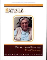 Sr. Andrea Prindes, The Cleaner - University of St. Francis