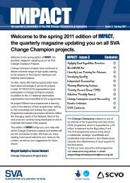 Impact Magazine – 3rd Edition - Supporting Voluntary Action ...
