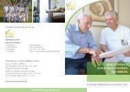 Broschüre Kurzzeitpflege Klinik Dreizehnlinden - in den Vital-Kliniken