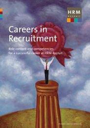 Careers in Recruitment - HRM Recruit