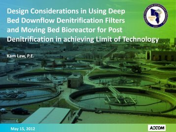 Design Considerations in Using Deep Bed Downflow Denitrification ...