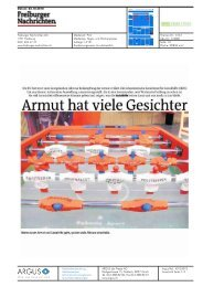 Freiburger Nachrichten: Armut hat viele Gesichter, 02.10.10 - Im Fall